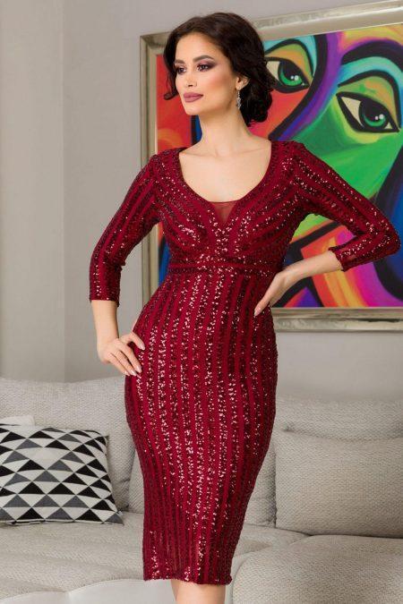 Kendall Burgundy Dress