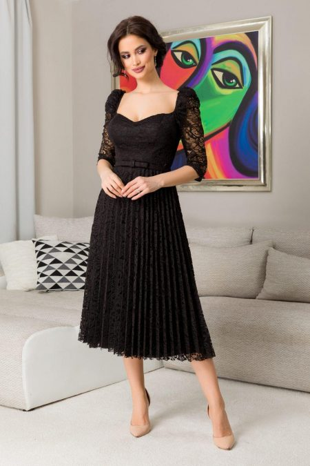 Thara Black Dress