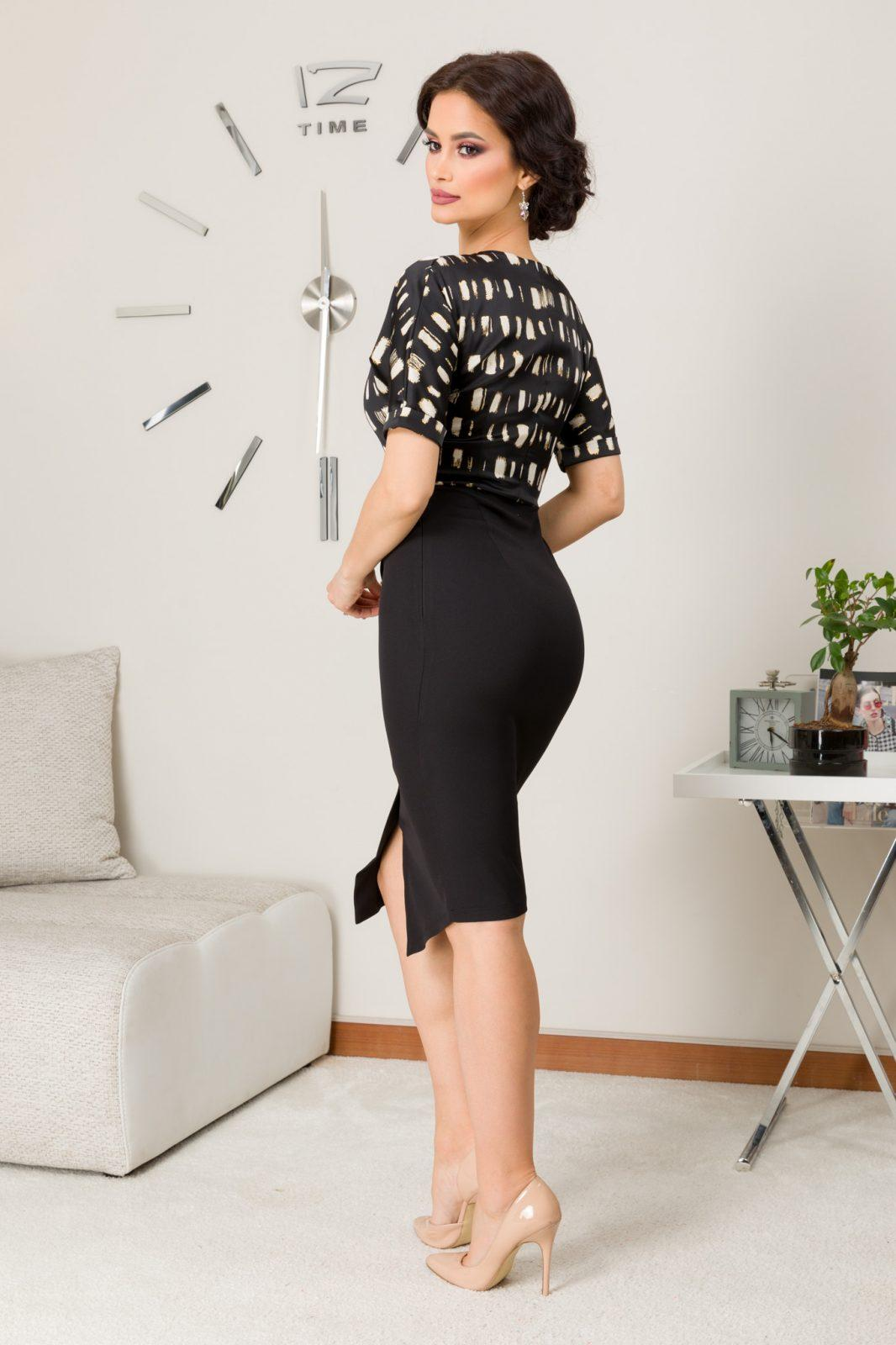 Brielle Μαύρο Φόρεμα 7296