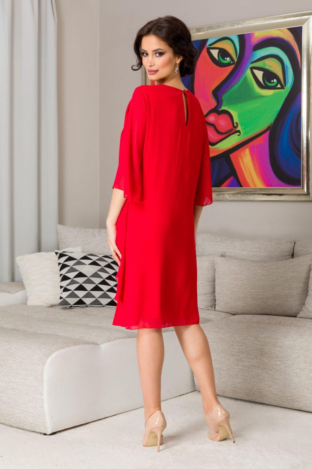 Κόκκινο Φόρεμα Για Μεγάλα Μεγέθη Paris 7318