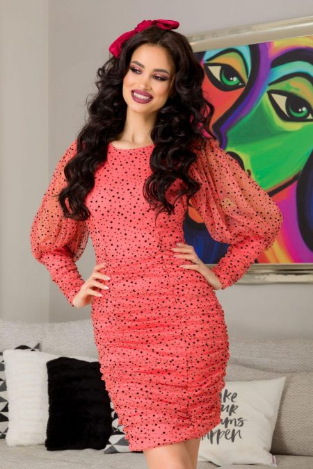 Alessia Coral Dress
