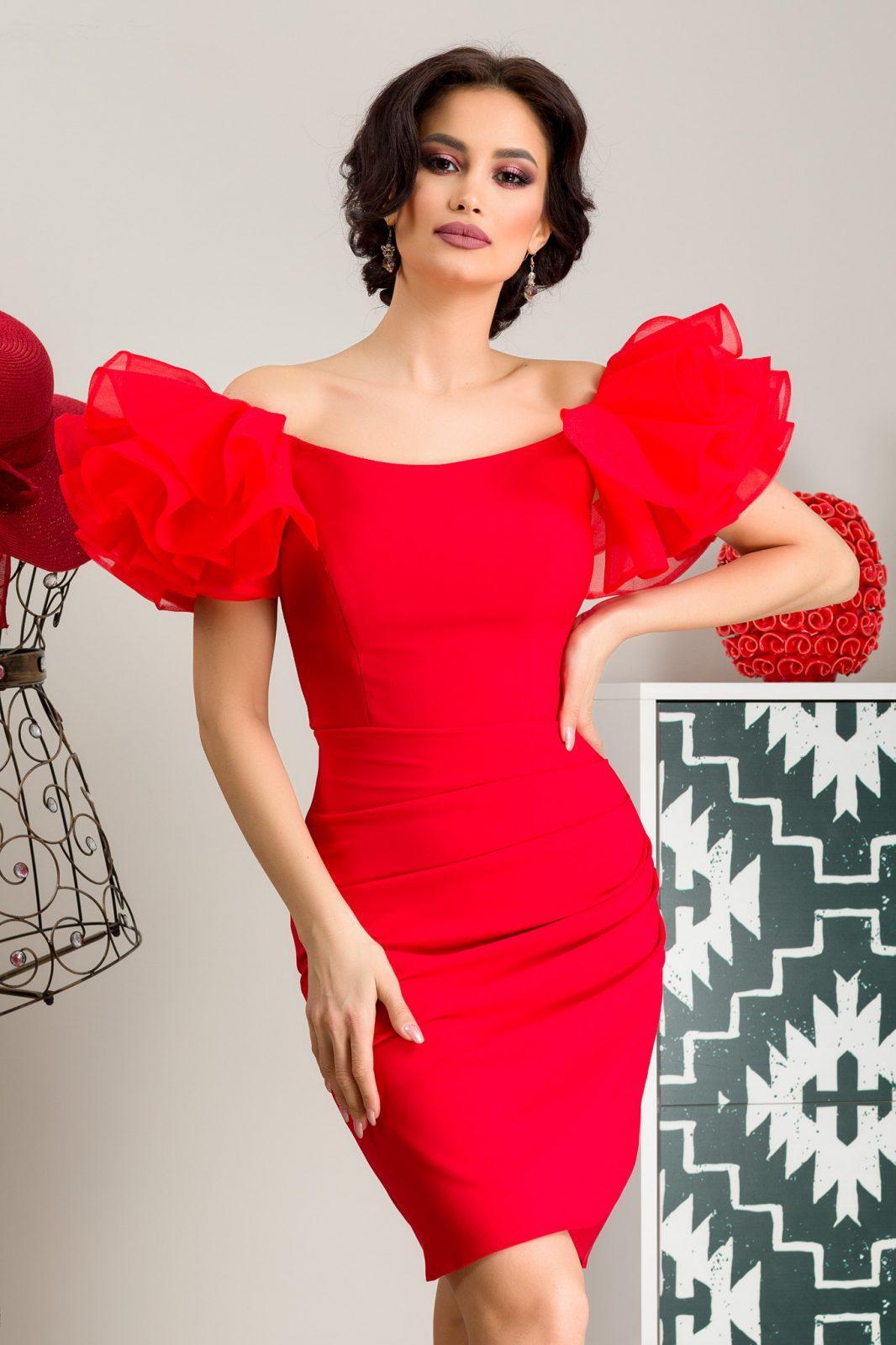 Κόκκινο Φόρεμα Pretty 7275