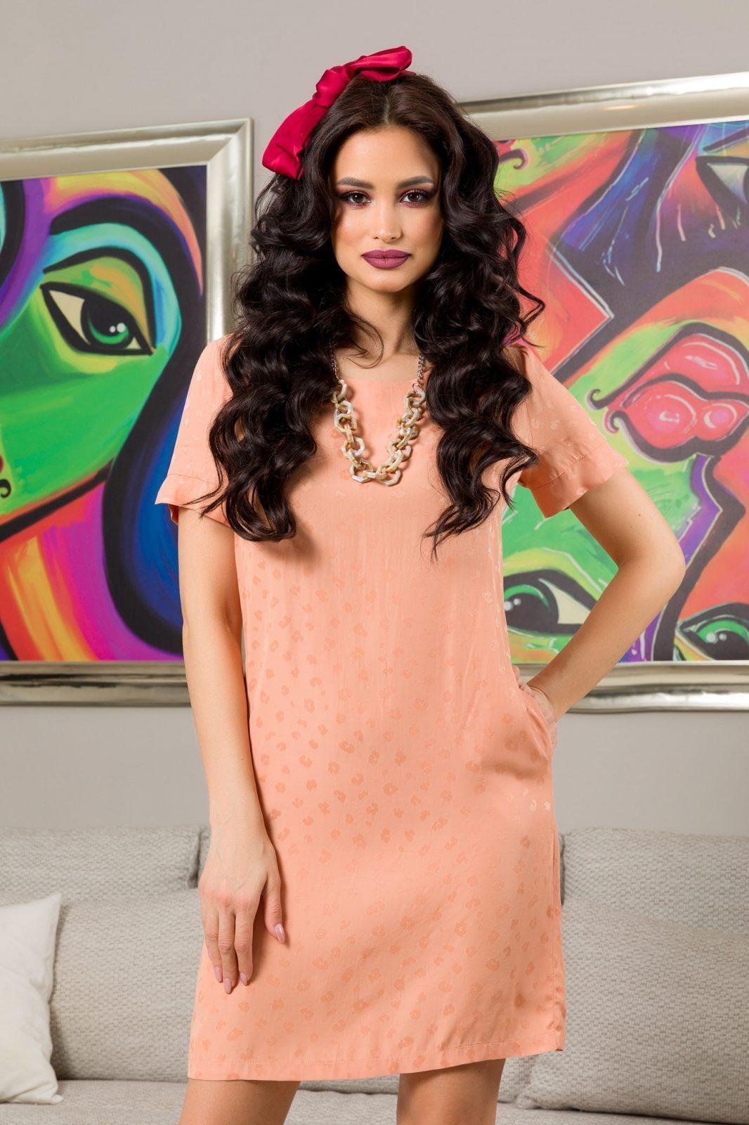 Kara Peach Dress