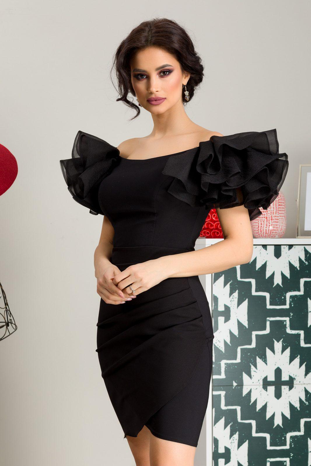 Μαύρο Φόρεμα Pretty 7274