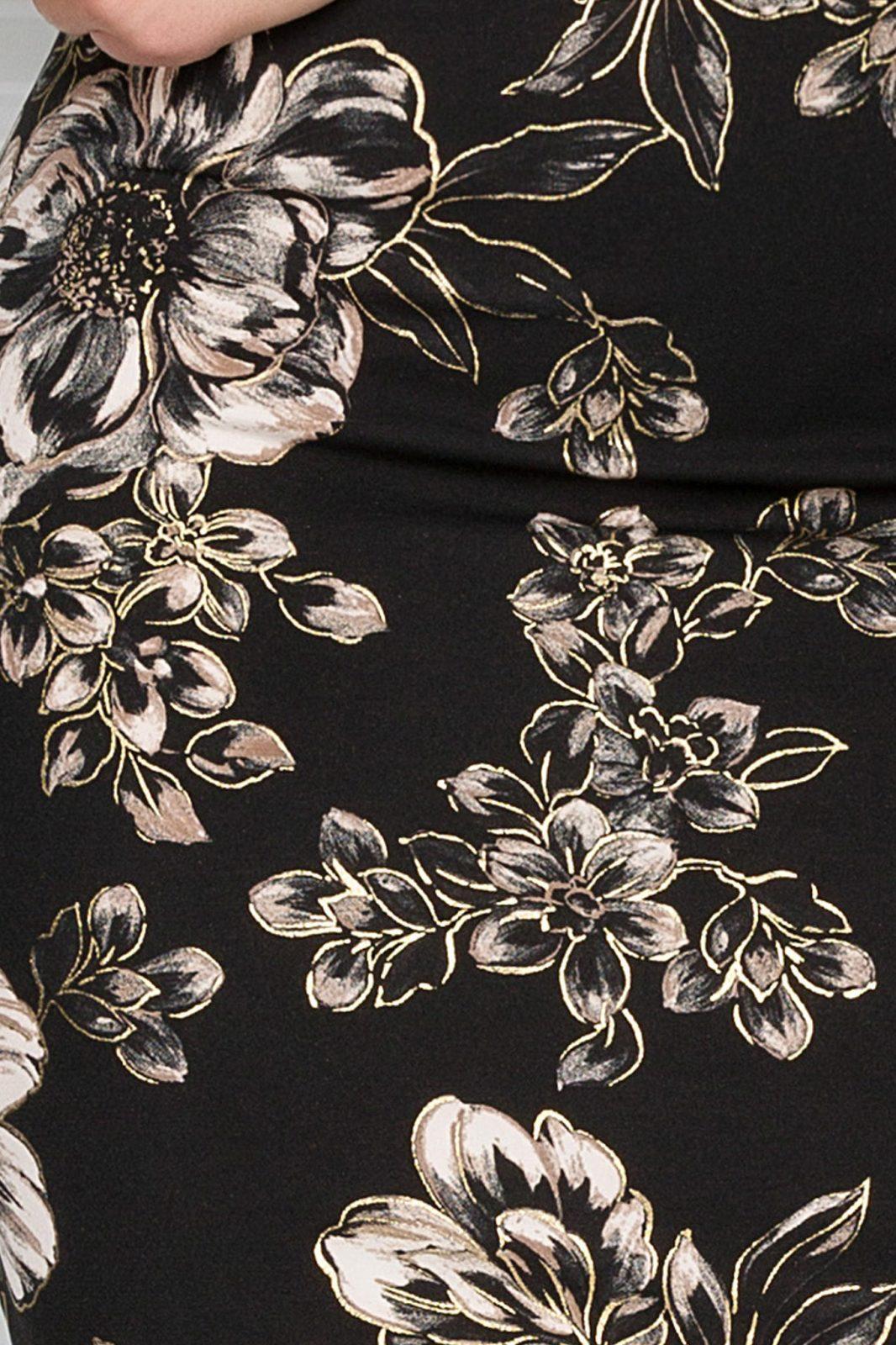 Μαύρο Κοντομάνικο Φόρεμα με Κολιέ Lisa 7421