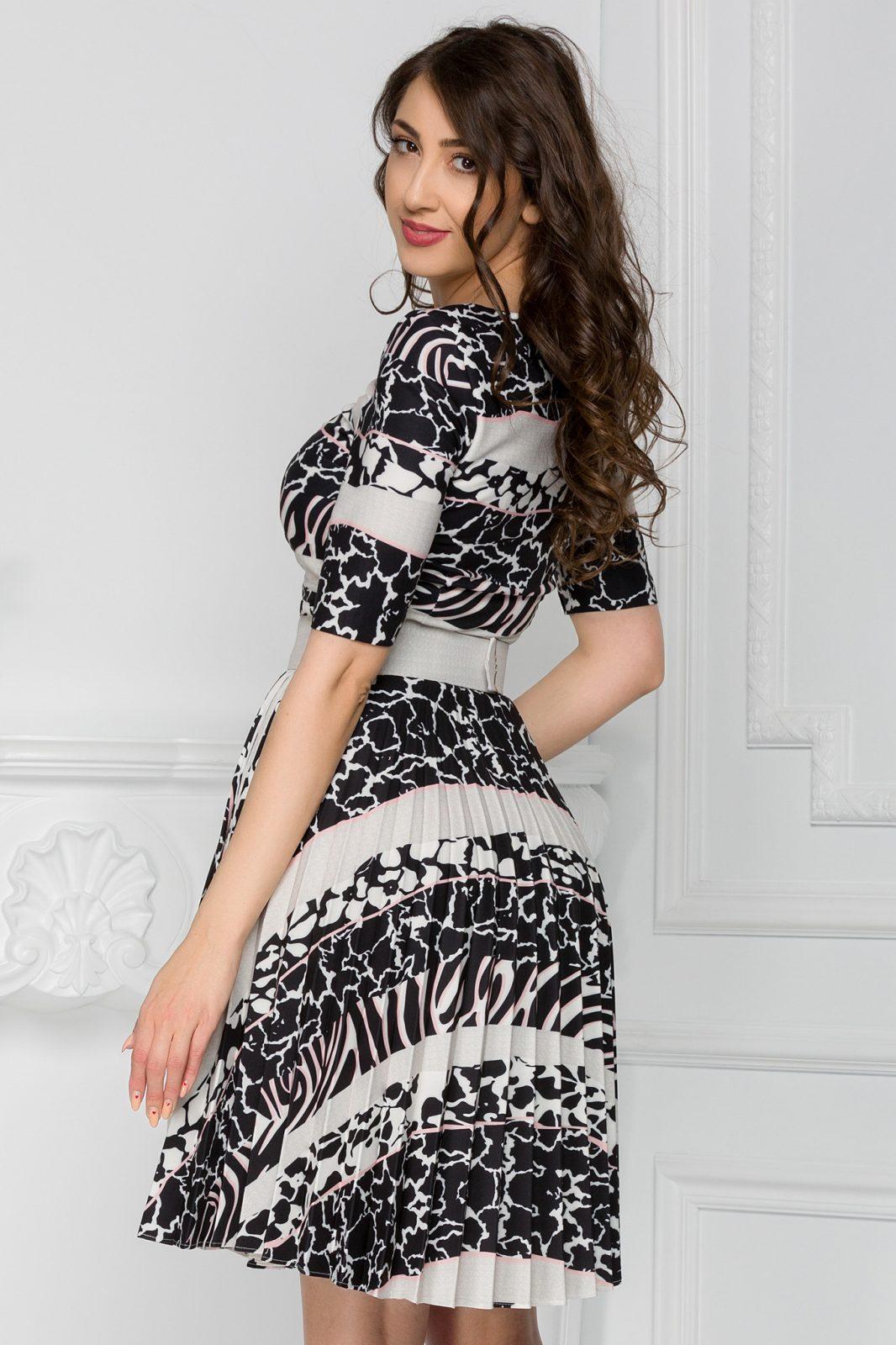Μπεζ Καθημερινό Φόρεμα Esmer 7434 3