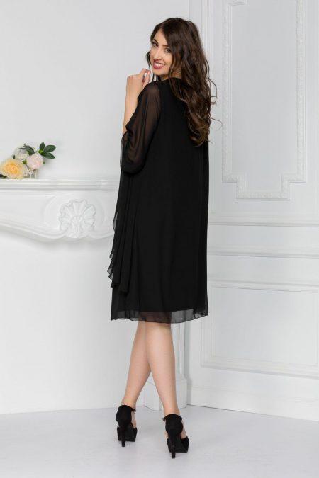 Μαύρο Φόρεμα Για Μεγάλα Μεγέθη Paris 7442