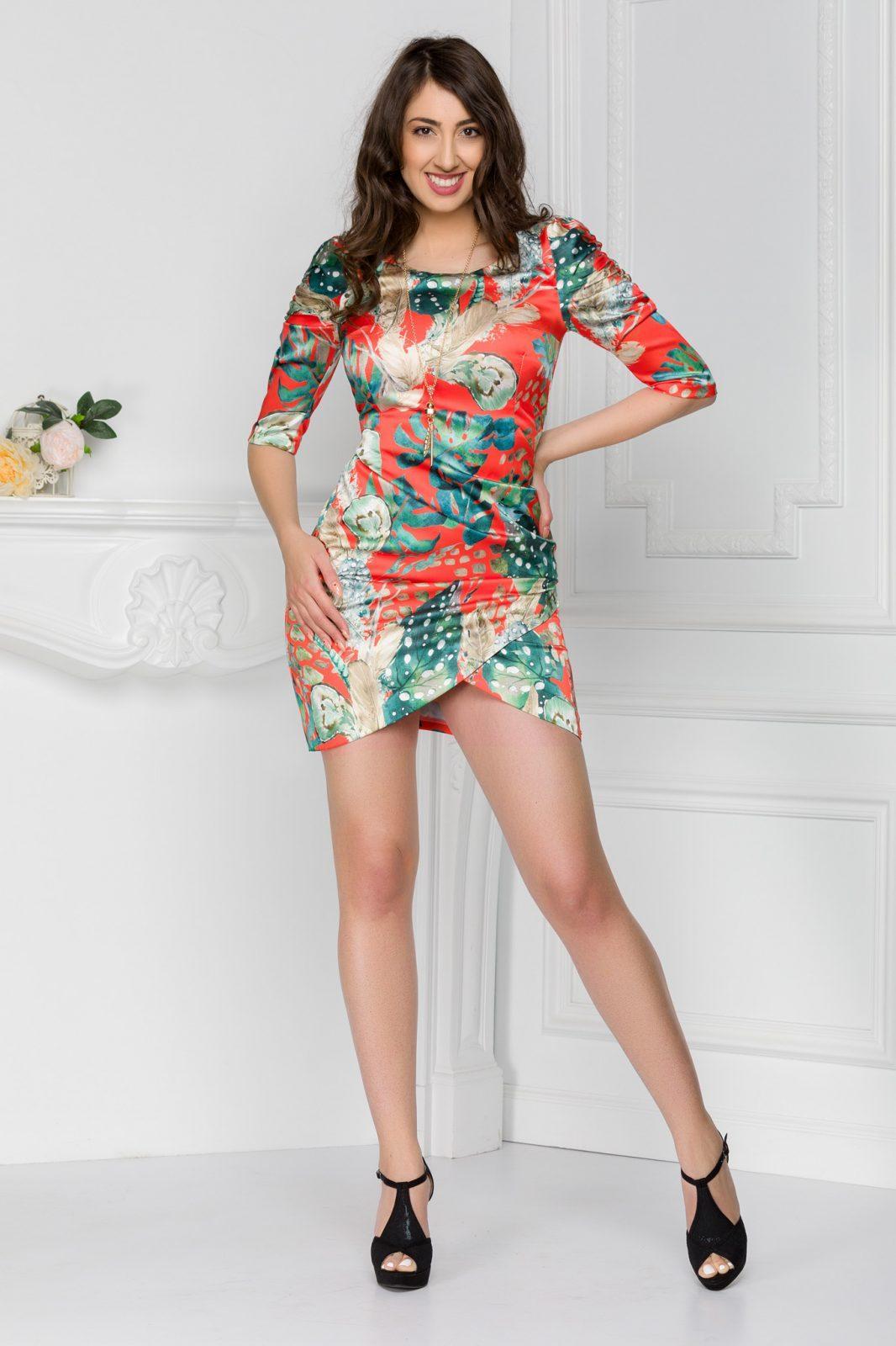 Κόκκινο Μίνι Φόρεμα Lorelay 7422