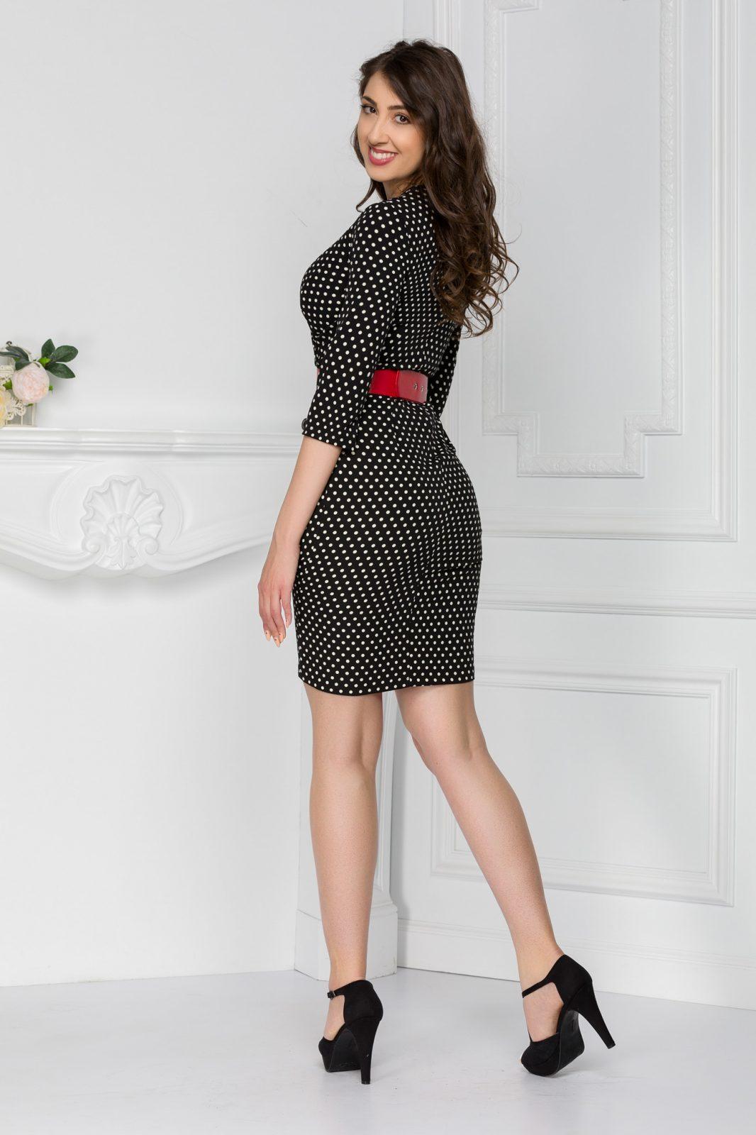 Tayana Πουά Φόρεμα 5624