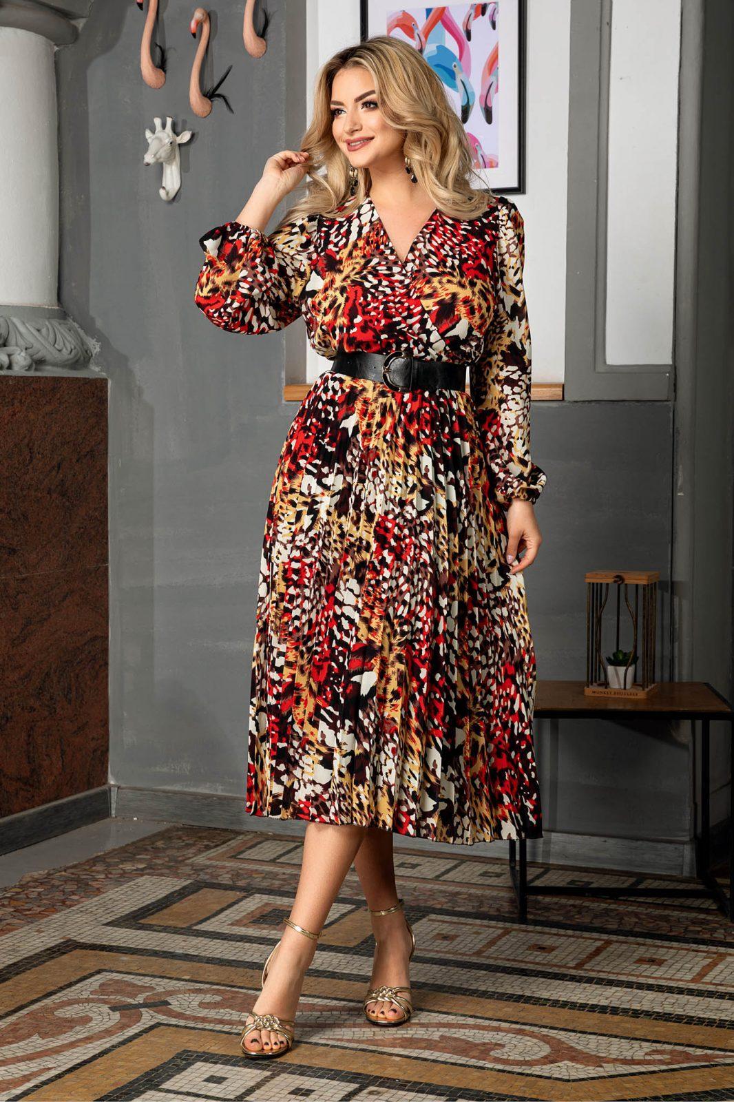 Malina Animal Print Dress