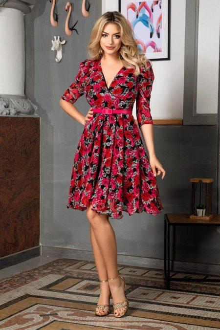 Magda Ciclam Dress