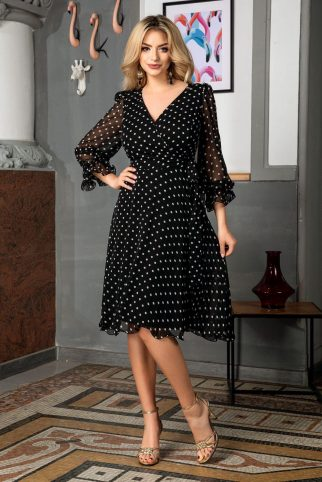 Simine Black Dress