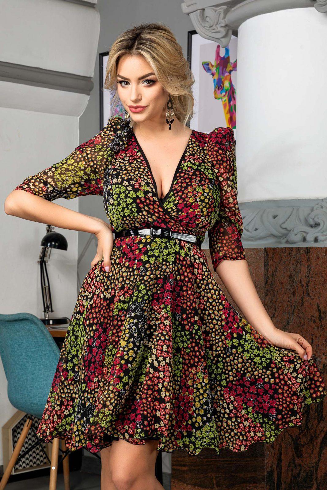 Magda Multi Floral Dress