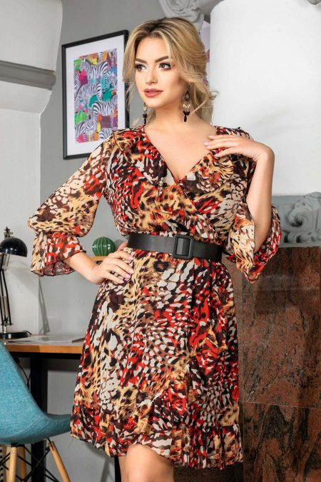 Elda Animal Print Dress