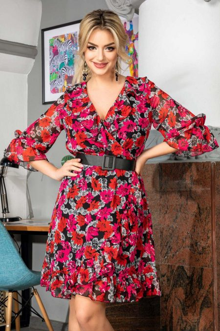 Elda Ciclam Dress