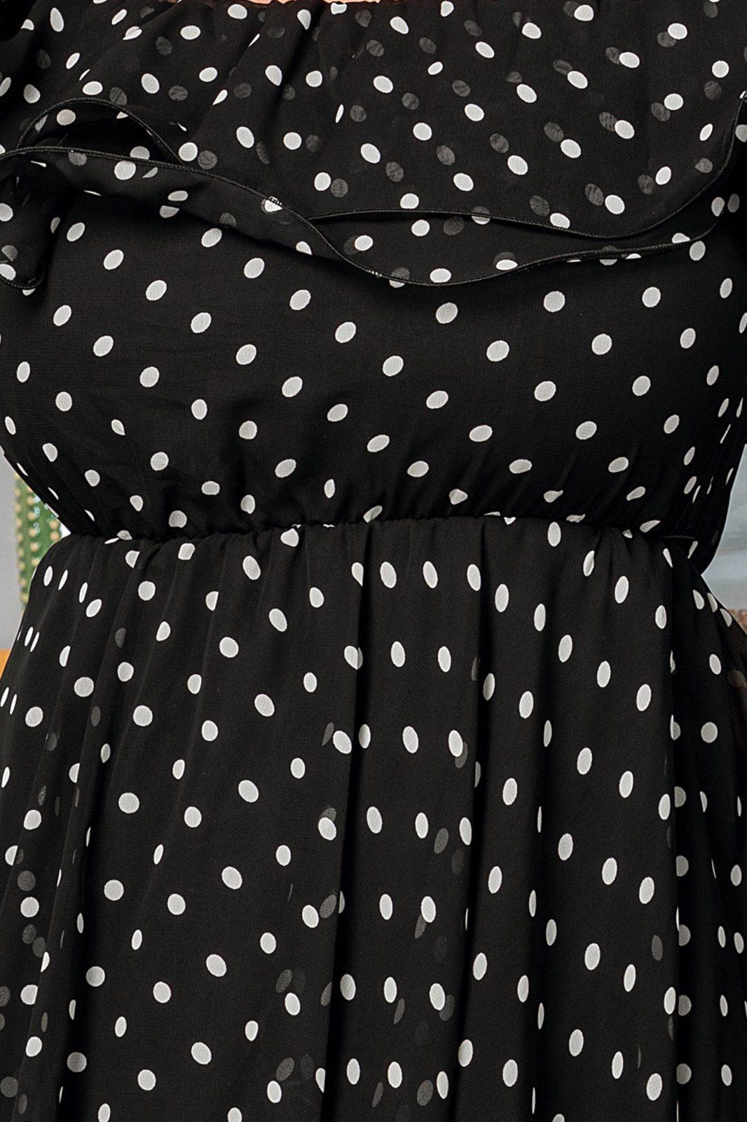 Μαύρο Πουά Φόρεμα Yrene 7550 3