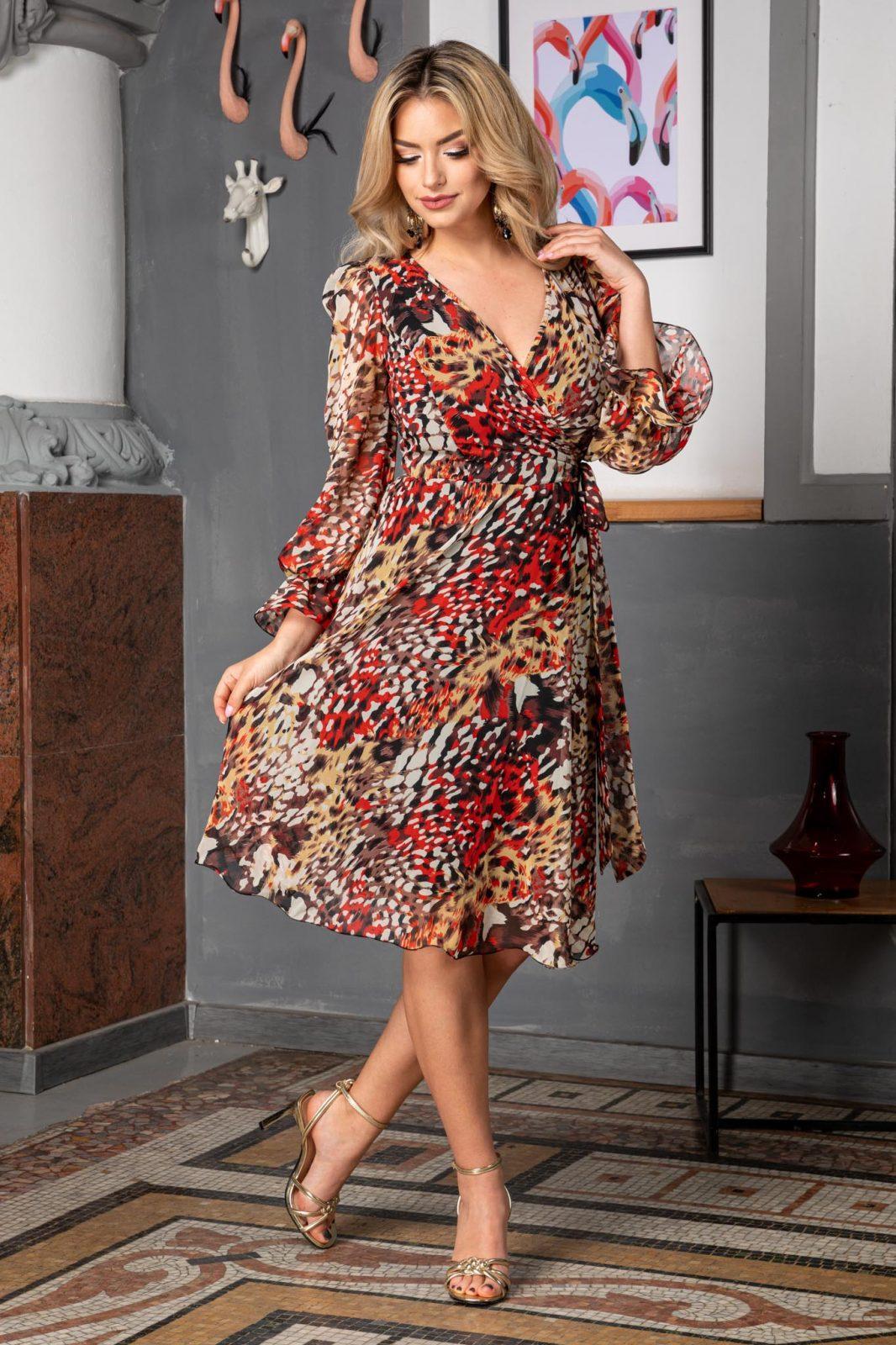 Animal Print Φόρεμα Simine 7566