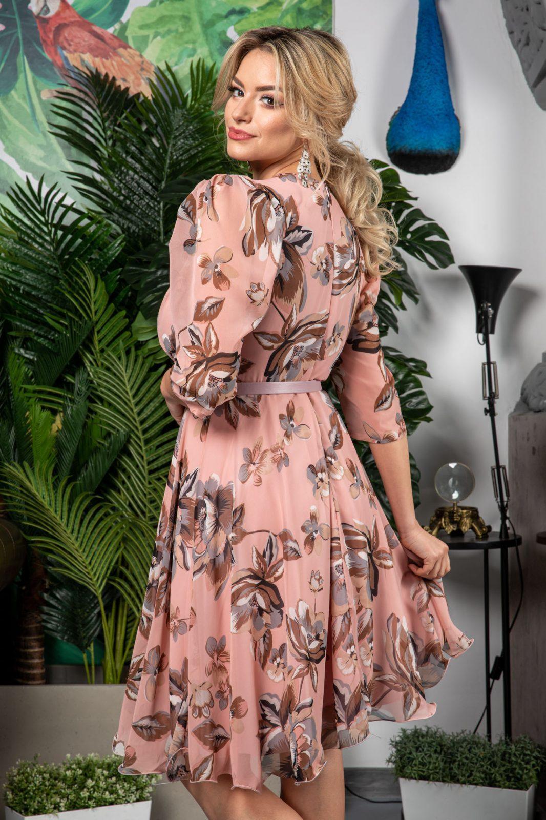 Ροζ Φόρεμα Magda 7515 1