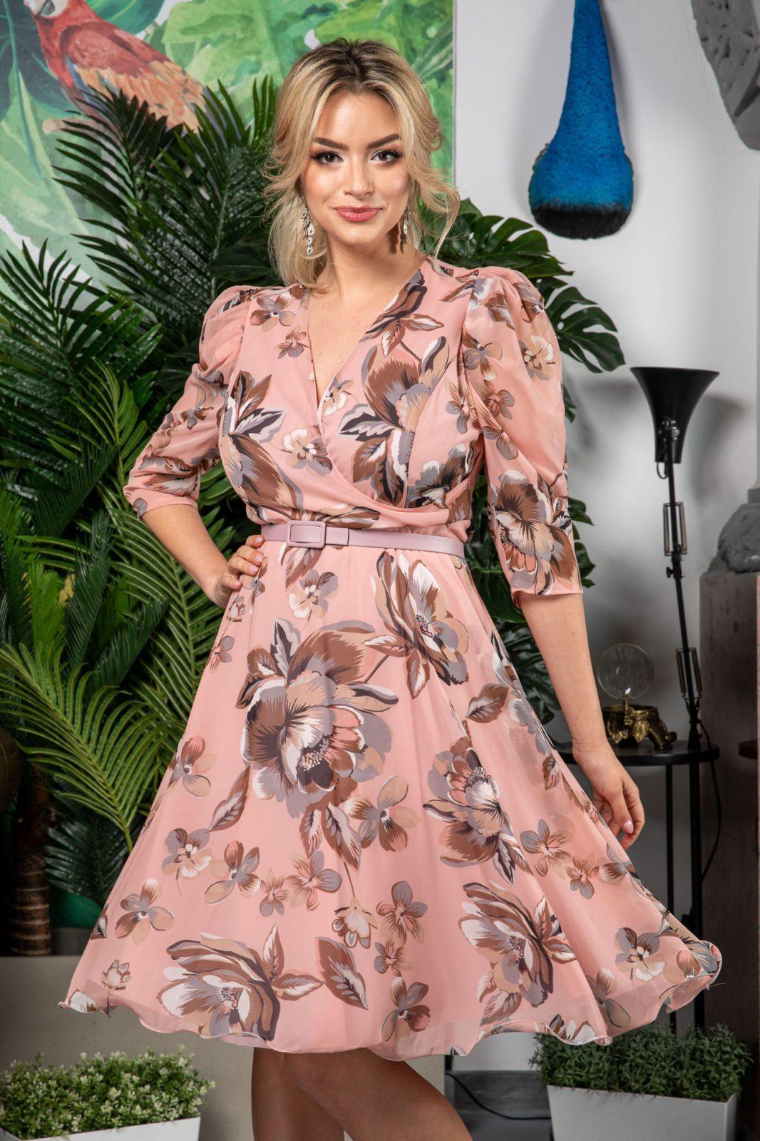 Ροζ Φόρεμα Magda 7515 2