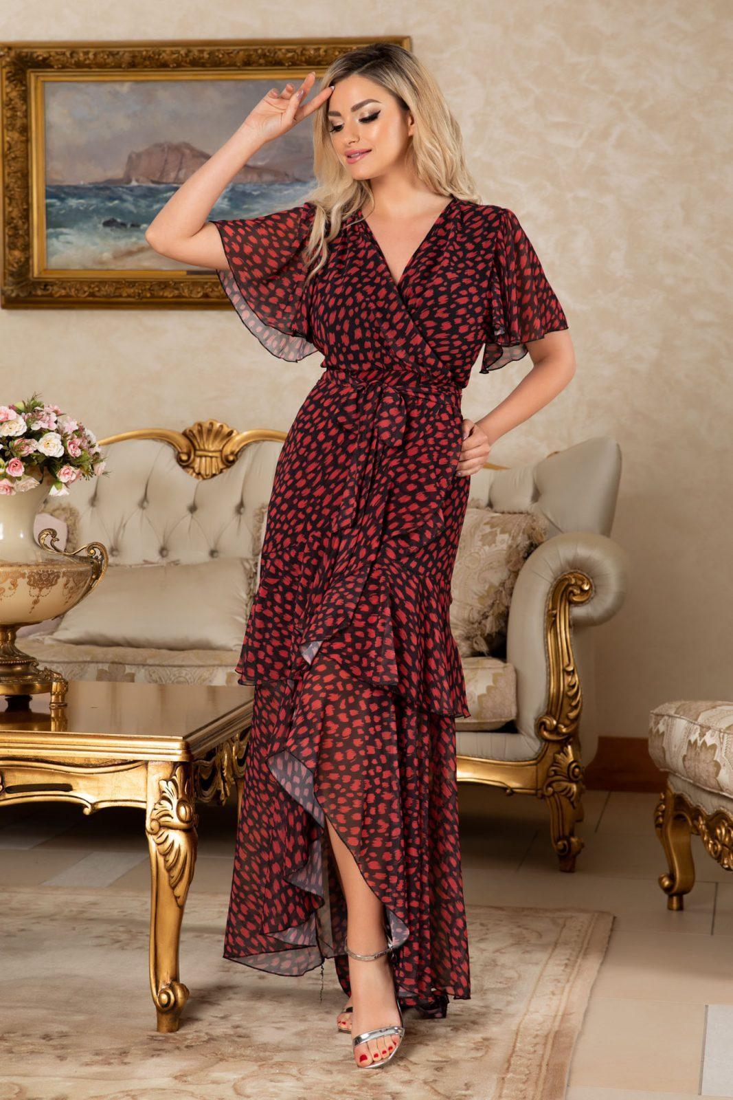 Maxi Φόρεμα Με Βολάν Callista 7696