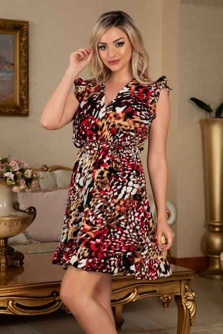 Elya Animal Print Dress