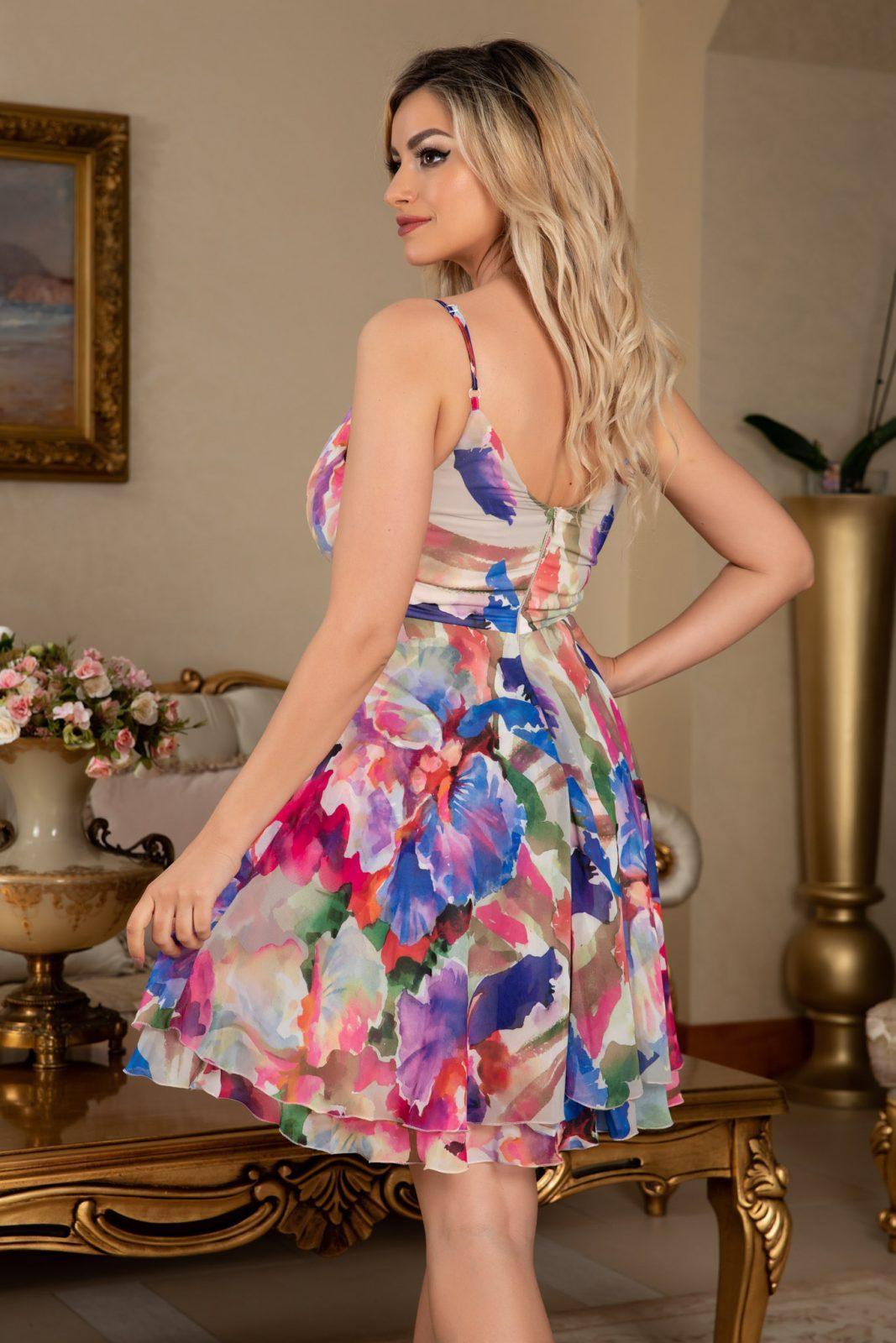 Παστέλ Φόρεμα Με V Ντεκολτέ Celyne 7678