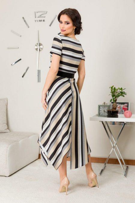 Ριγέ Φόρεμα με Ζώνη Paige 7604