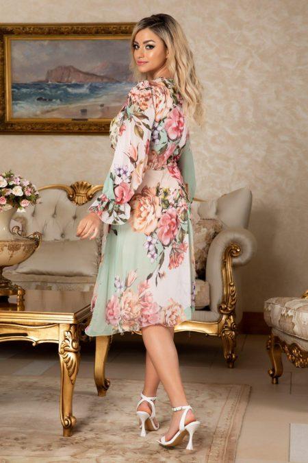 Φλοράλ Φόρεμα Με Μανίκι Simine 7670