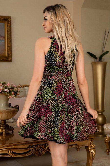 Φλοράλ Αμάνικο Φόρεμα Louise 7685