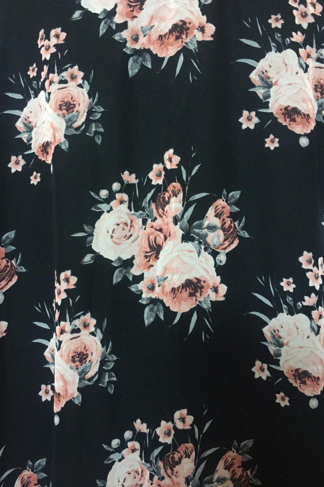 Μαύρο Maxi Φλοράλ Φόρεμα Althea 7779 3