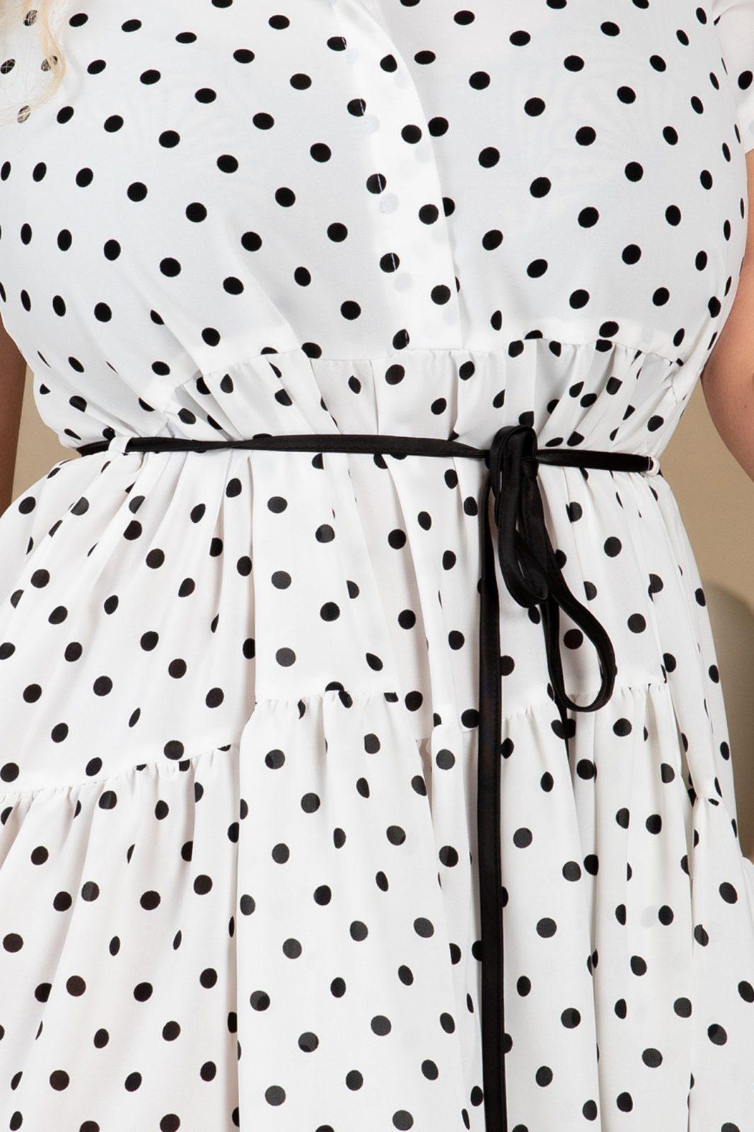 Άσπρο Πουά Φόρεμα Honey 7719