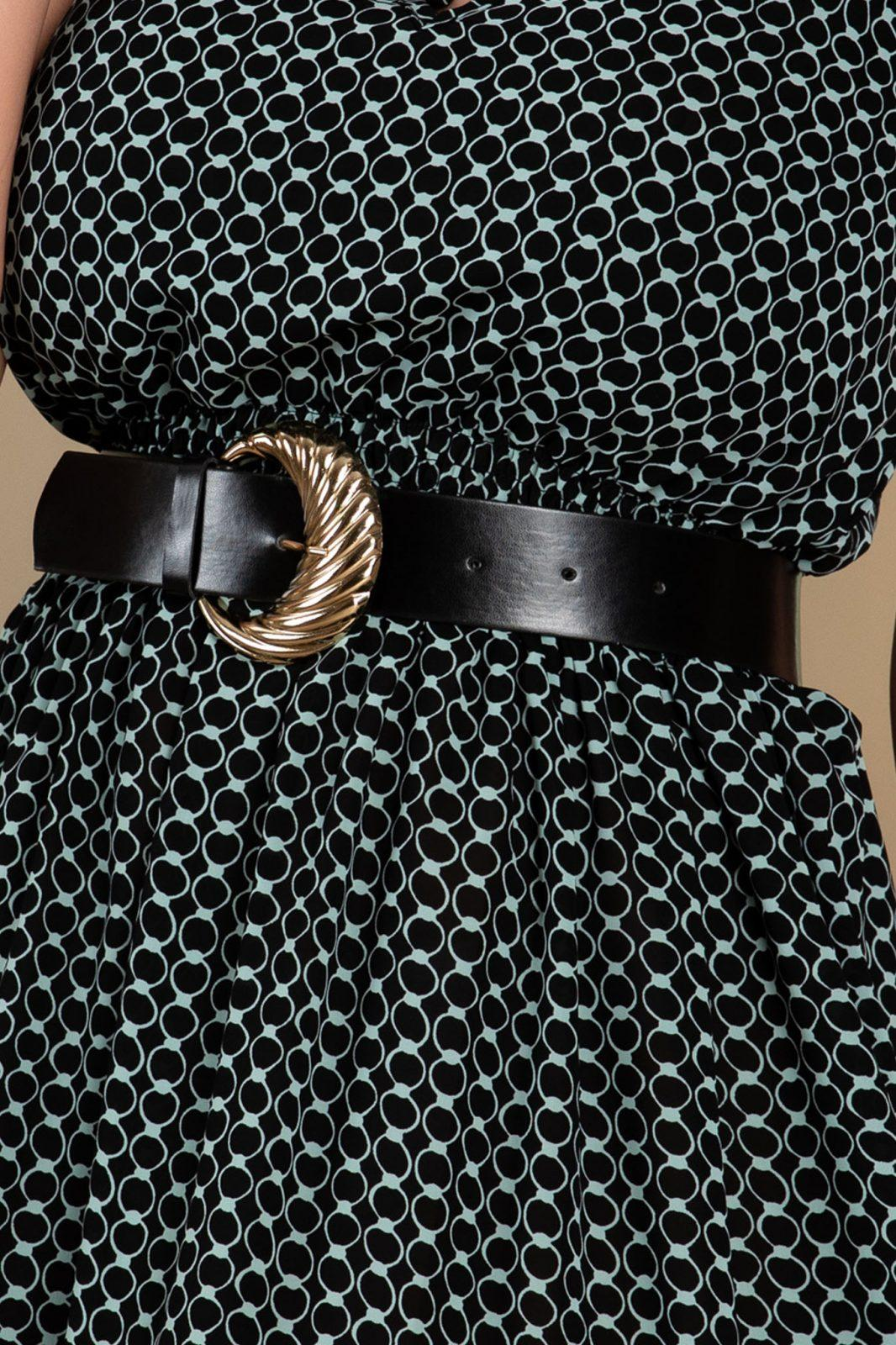 Φόρεμα Με Βολάν Και Ζώνη Lara 7702
