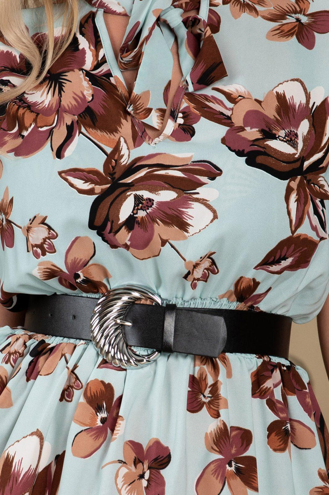 Γαλάζιο Φόρεμα Με Ζώνη Lara 7697
