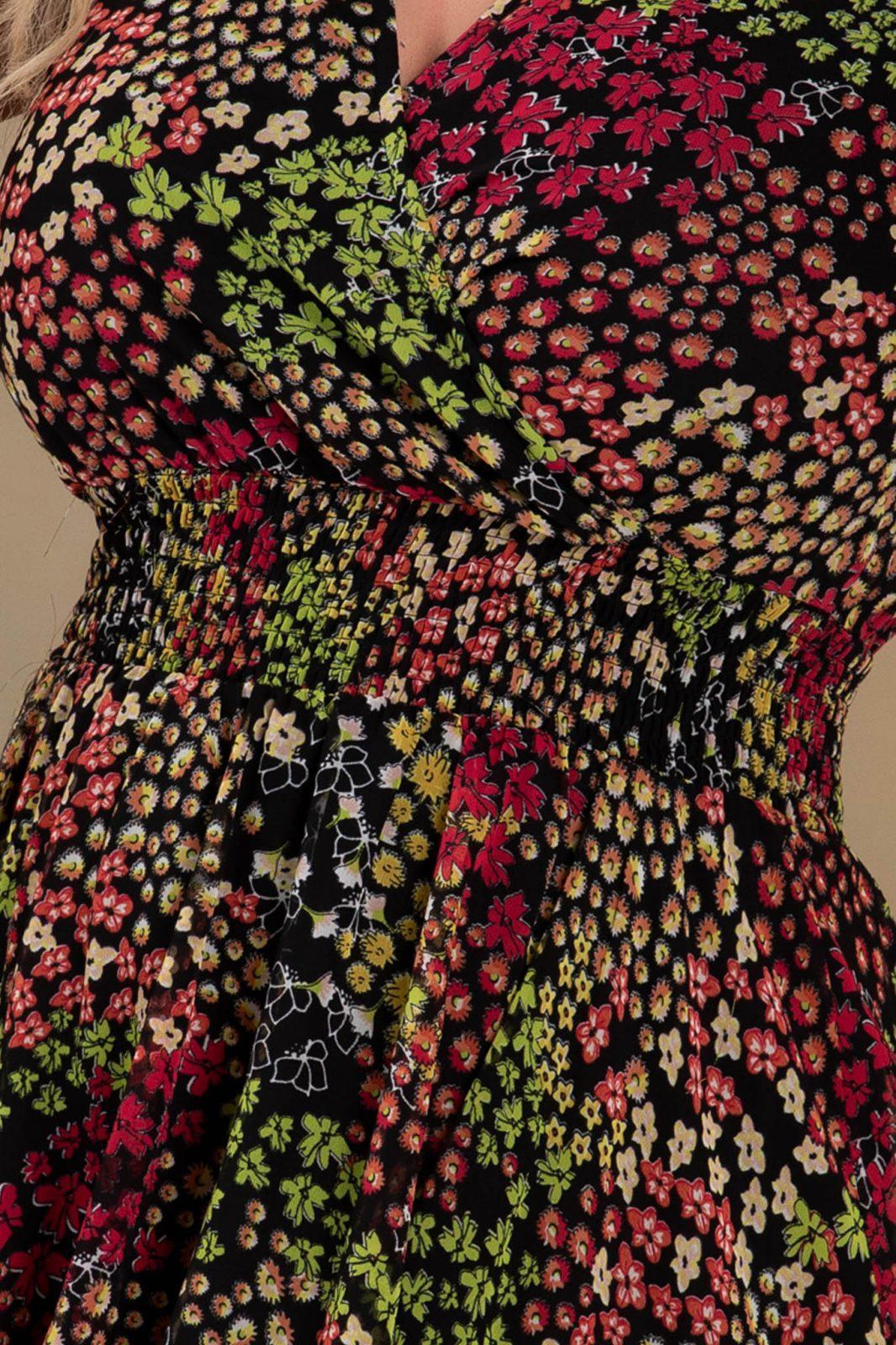 Φόρεμα Με Λαιμόκοψη V Iris 7674 3