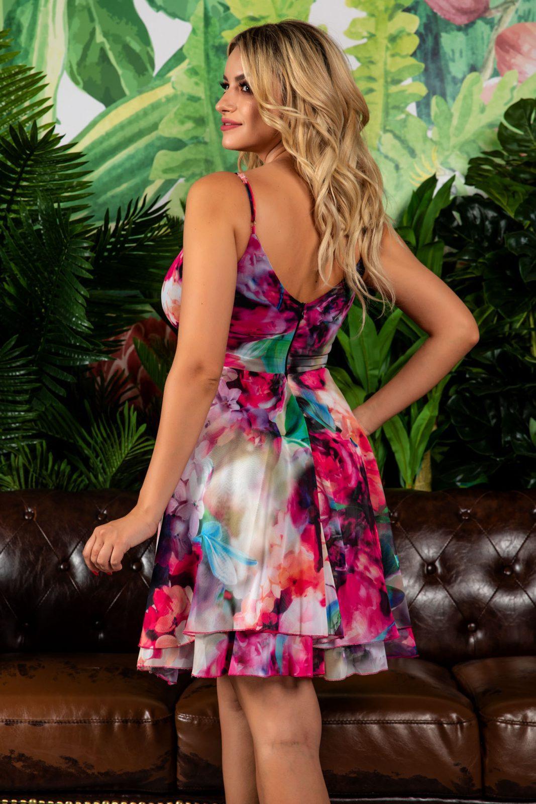 Mini Φόρεμα Με Ρυθμιζόμενες Τιράντες Celyne 7812