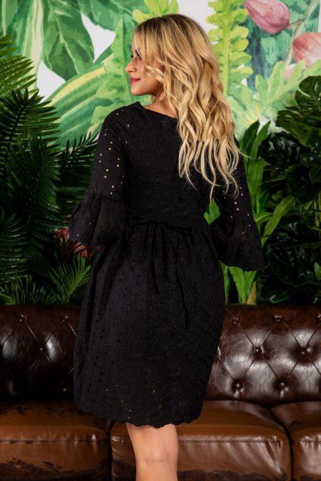 Mini Μαύρο Φόρεμα Aryana 7746