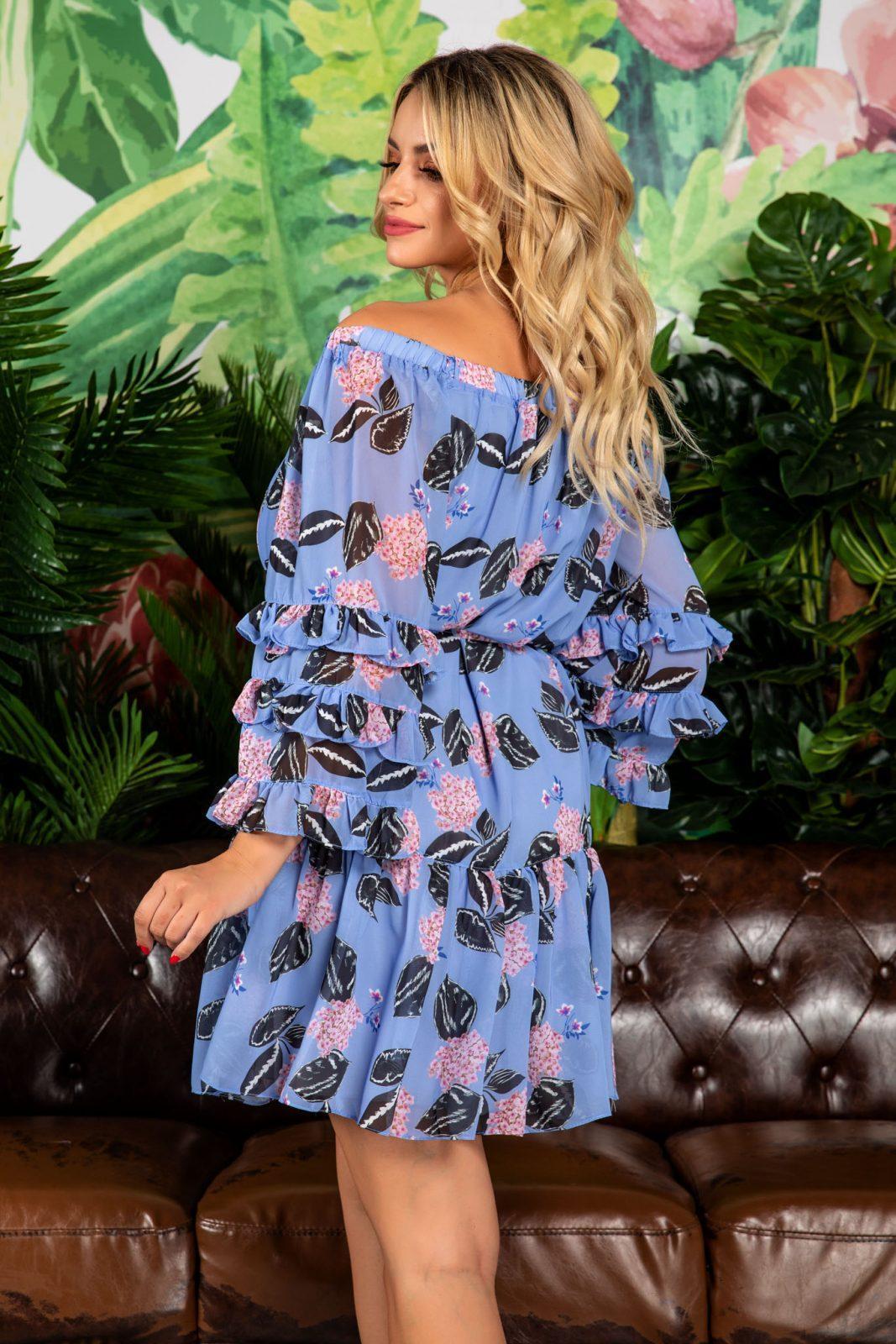 Μπλε Μίνι Φόρεμα Jasmine 7825