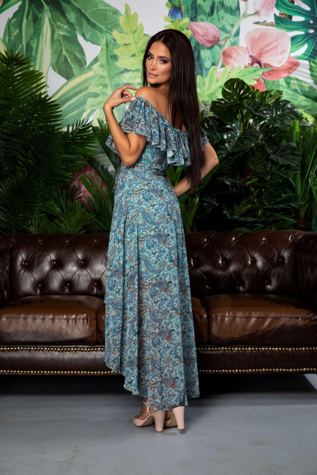 Φόρεμα Λαχούρι Με Βολάν Yolanda A292 1
