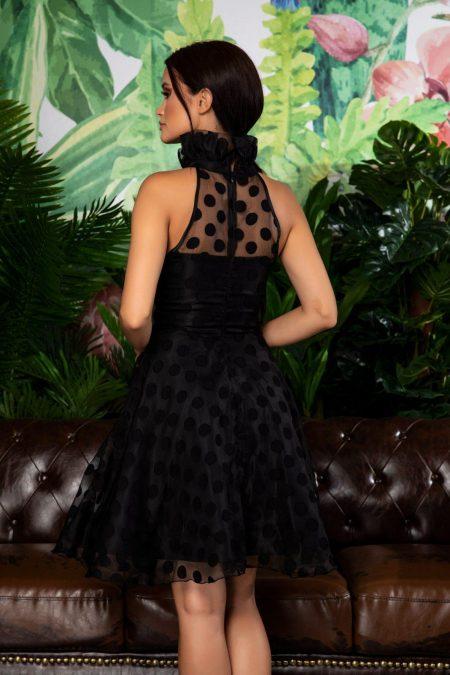 Μαύρο Αμάνικο Βραδινό Φόρεμα Clara 7864