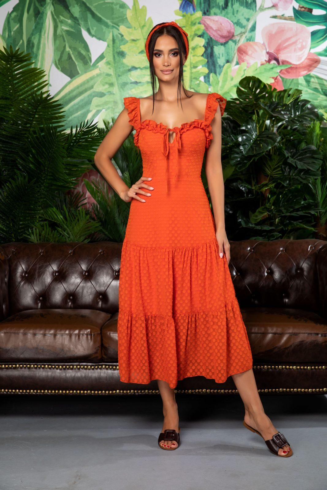 Romina Orange Dress