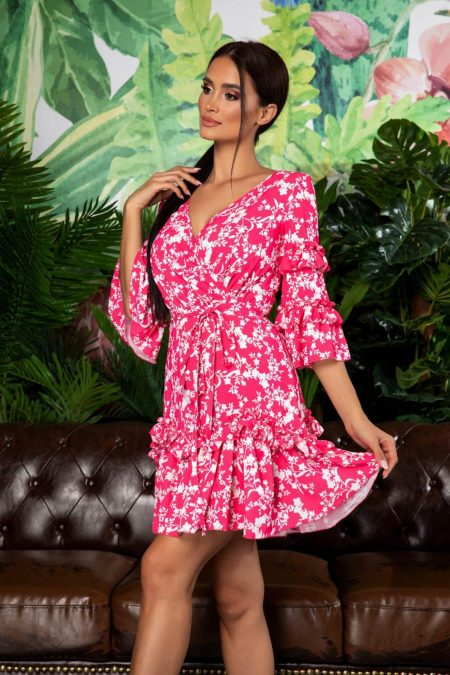 Φούξια Καθημερινό Φόρεμα Eda 7930
