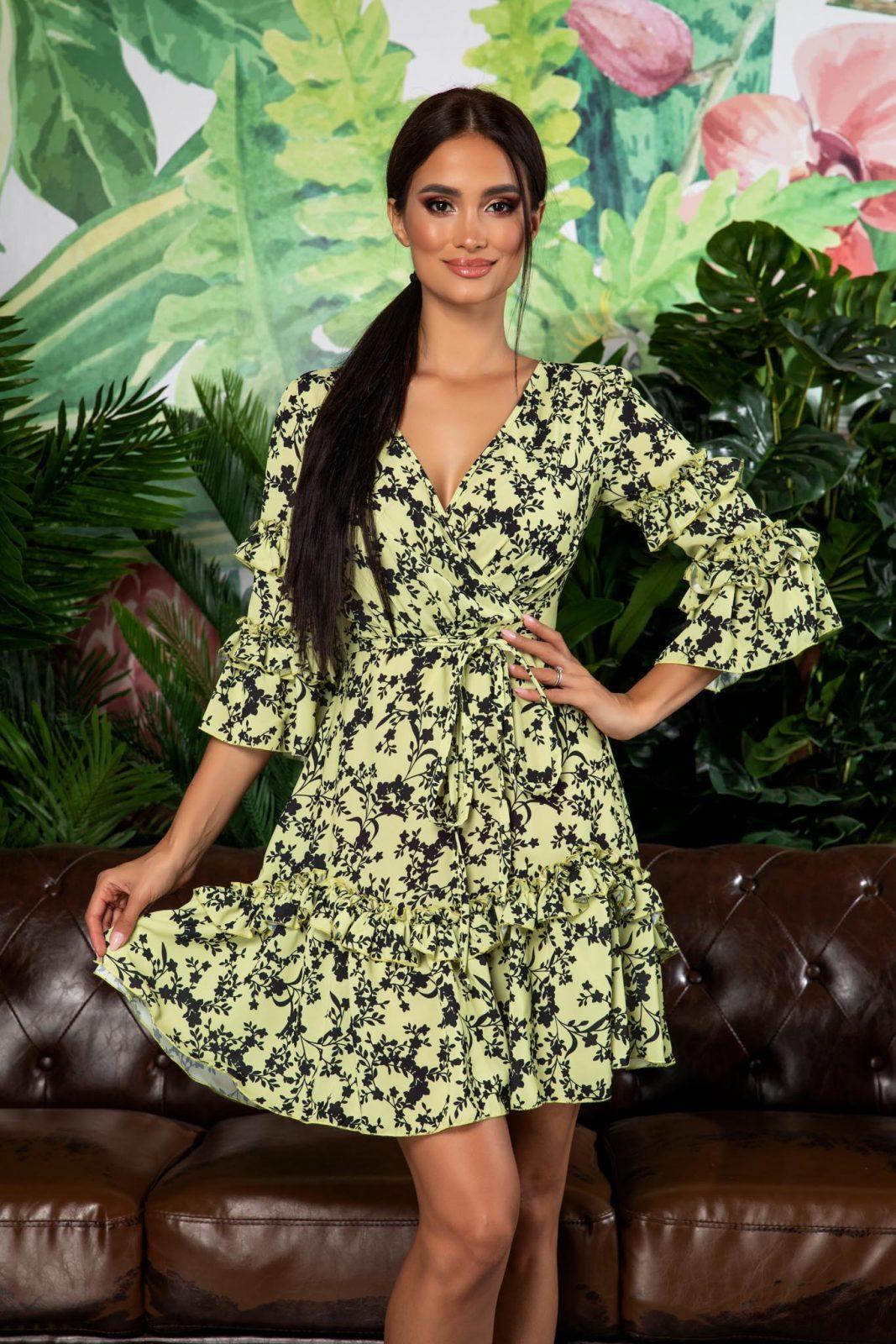 Eda Pistachio Dress