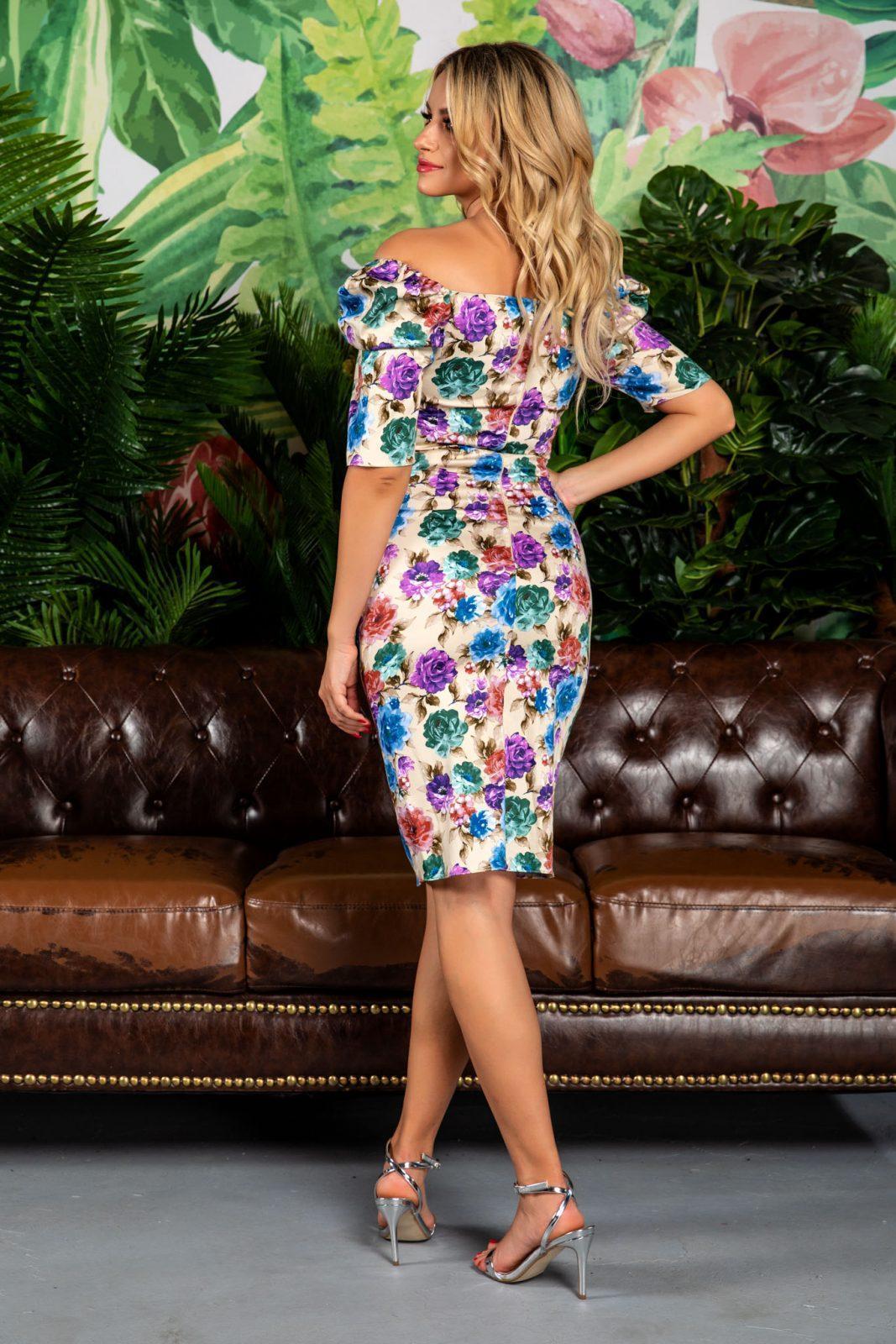 Nude Φλοράλ Φόρεμα Anette 7743