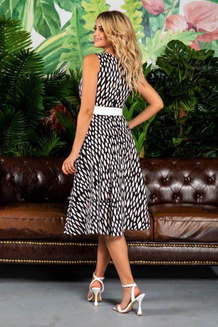 Φόρεμα Με Άσπρη Ζώνη Eralya 7756