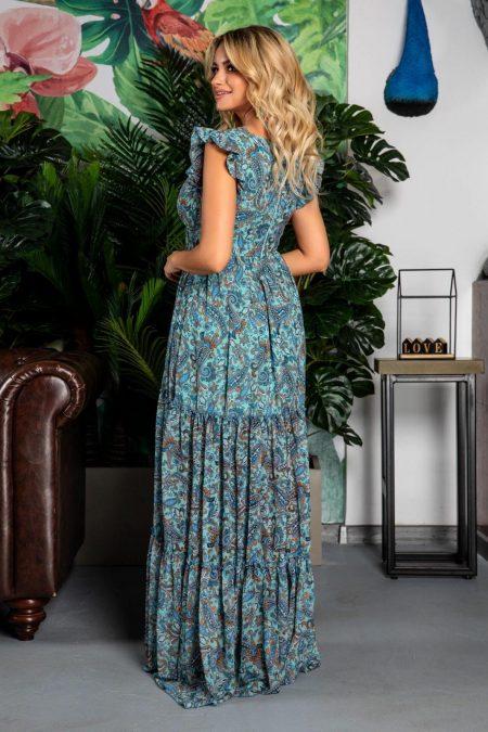 Maxi Φόρεμα Με Βολάν Evelyn 7765