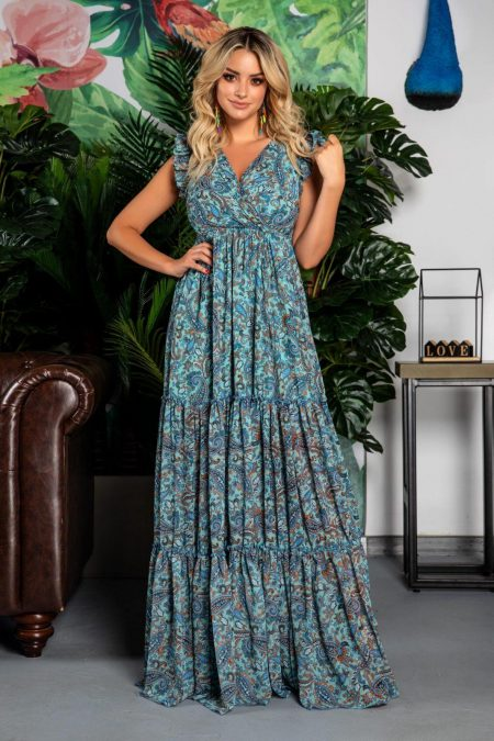 Evelyn Mint Multi Dress