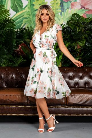 Heidy White Floral Dress