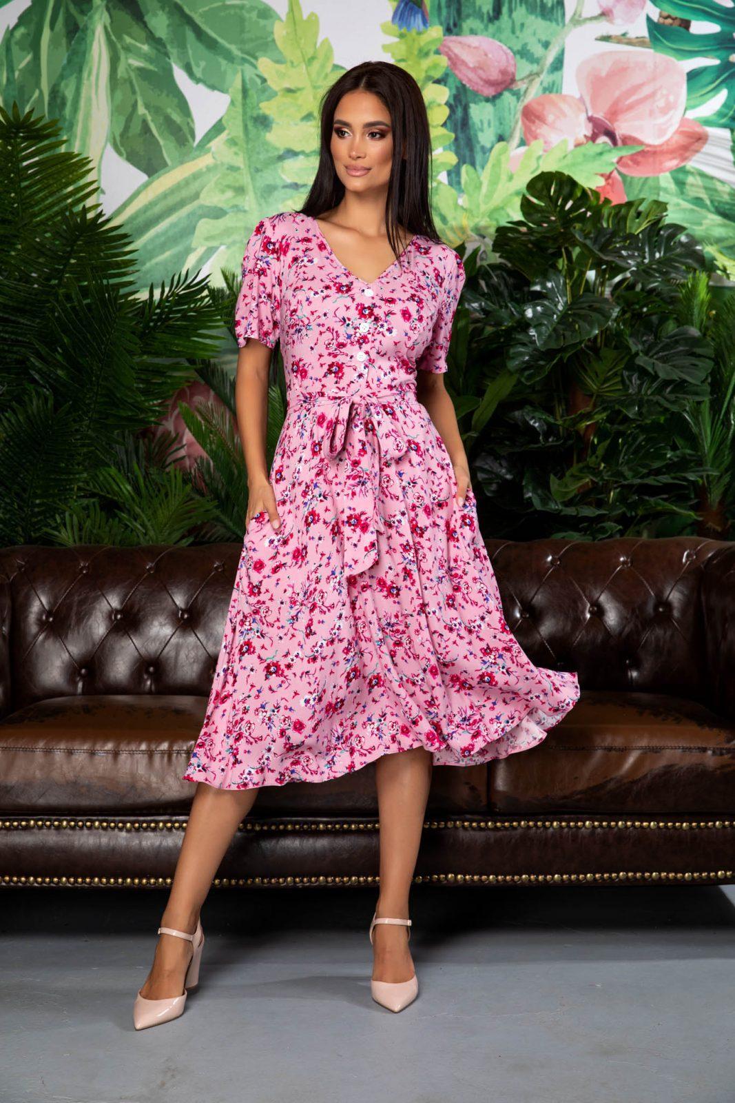 Corinne Pink Dress