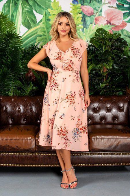 Summer Peach Dress