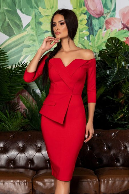 Klayre Red Dress